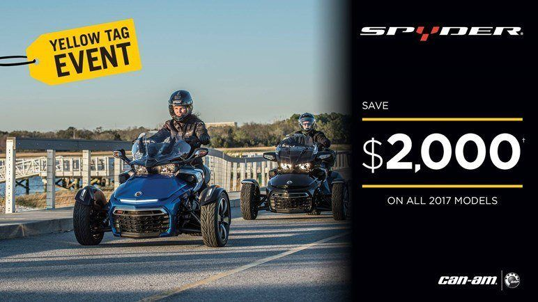 Can-Am Spyder Yellow Tag Event - 2017 models